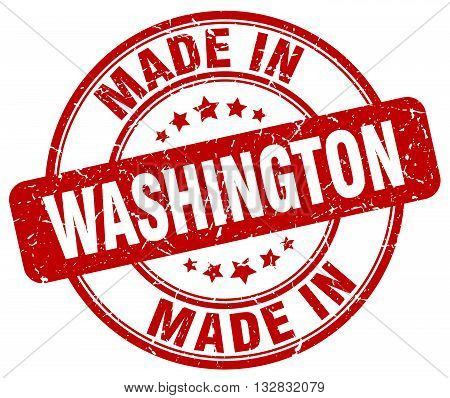 made in Washington red round vintage stamp.Washington stamp.Washington seal.Washington tag.Washington.Washington sign.Washington.Washington label.stamp.made.in.made in.