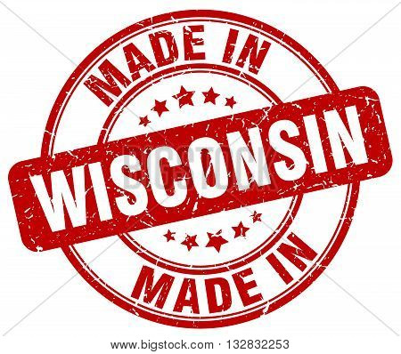 made in Wisconsin red round vintage stamp.Wisconsin stamp.Wisconsin seal.Wisconsin tag.Wisconsin.Wisconsin sign.Wisconsin.Wisconsin label.stamp.made.in.made in.