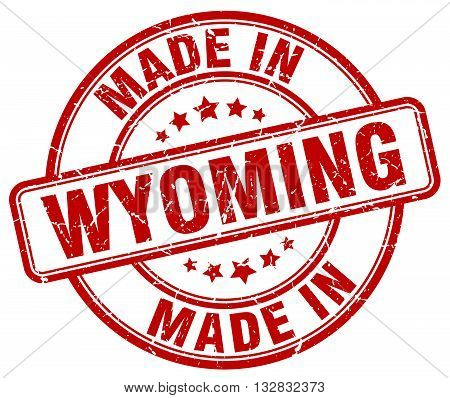 made in Wyoming red round vintage stamp.Wyoming stamp.Wyoming seal.Wyoming tag.Wyoming.Wyoming sign.Wyoming.Wyoming label.stamp.made.in.made in.