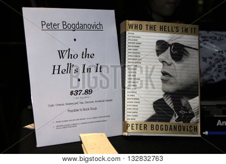 Peter Bogdanovich signs copies of his new book