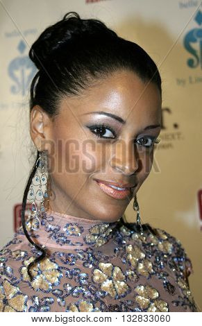 Claudia Jordan at the 2nd Semi Annual Fashion Wire Daily's event NEXT at Mondrian Hotel's SkyBar in West Hollywood, USA on October 25, 2004.
