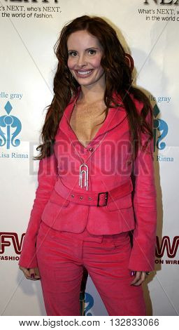 Phoebe Price at the 2nd Semi Annual Fashion Wire Daily's event NEXT at Mondrian Hotel's SkyBar in West Hollywood, USA on October 25, 2004.