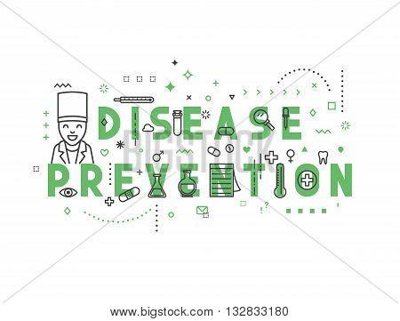 Medicine concept design disease prevention. Creative design elements for websites, mobile apps and printed materials. Medicine banner design