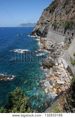 The Seaside walk - Love Road in Cinque Terre National Park Italy