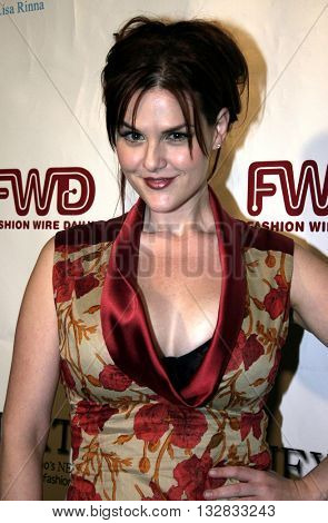 Sara Rue at the 2nd Semi Annual Fashion Wire Daily's event NEXT at Mondrian Hotel's SkyBar in West Hollywood, USA on October 25, 2004.