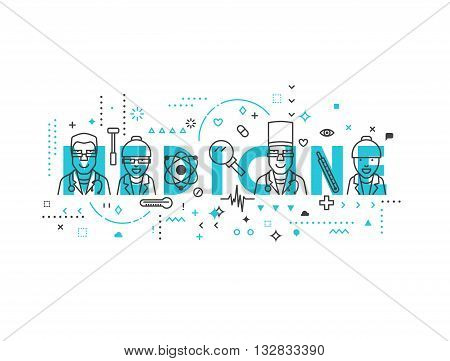 Medicine concept design. Creative design elements for websites, mobile apps and printed materials. Medicine banner design