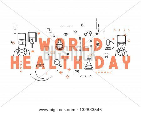 Medicine concept World health day. Creative design elements for websites, mobile apps and printed materials. Medicine banner design