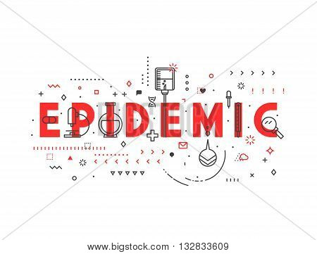 Medicine concept Epidemic. Creative design elements for websites, mobile apps and printed materials. Medicine banner design