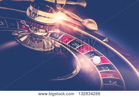 Casino Roulette Game. Casino Gambling Concept 3D Render Illustration. The Wheel of Fortune.