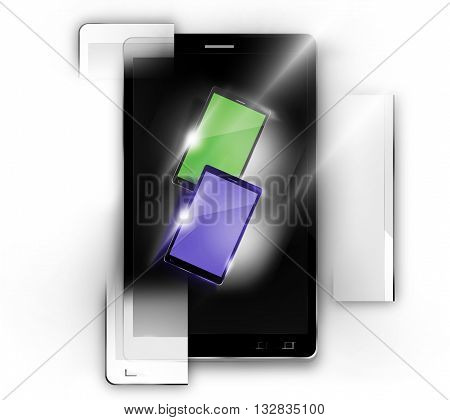 Modular smartphones graphic illustration design modern image