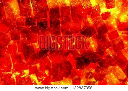 art fire burning wood abstract pattern illustration background