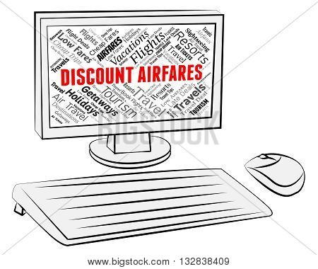 Discount Airfares Indicates Current Price And Aircraft