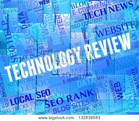Technology Review Shows Evaluation Appraisal And Electronic
