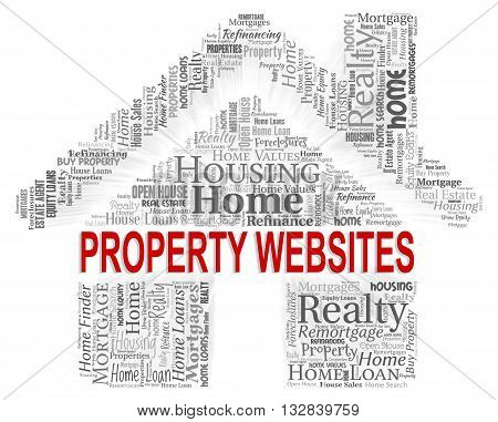 Property Websites Shows Homes Houses And Habitation