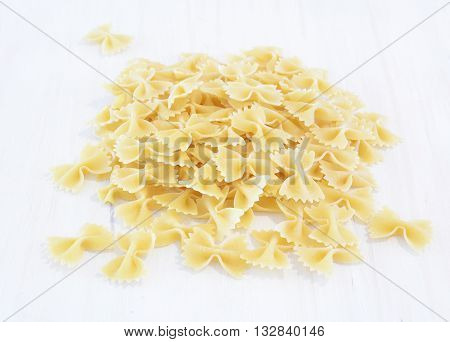 Bow tie farfalle pasta in horizontal format