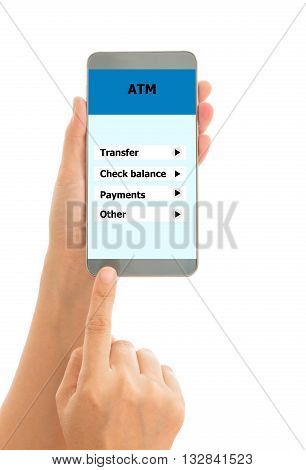 Human holding Use the phone to pay bills over the phone.