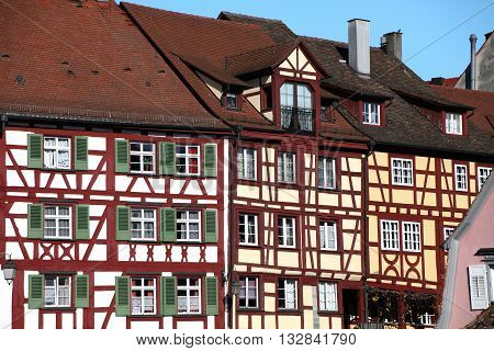 traditional half-timbered house in Meersburg in Germany