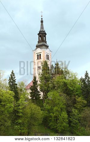 Pilgrimage church of the assumption of Maria at Lake Bled, Slovenia