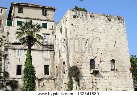 traditional Croatian architecture at the old town of Split, Croatia