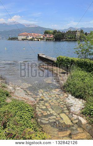 Lake Maggiore and Isola Bella Island near Milan, Italy