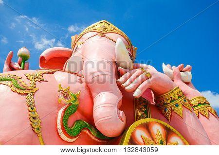 Ganesh statue in Wat Saman Rattanaram, Chachoengsao, Thailand