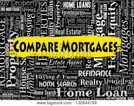 Compare Mortgages Shows Home Loan And Borrow