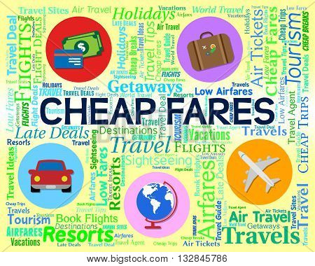Cheap Fares Represents Sale Discount And Offer
