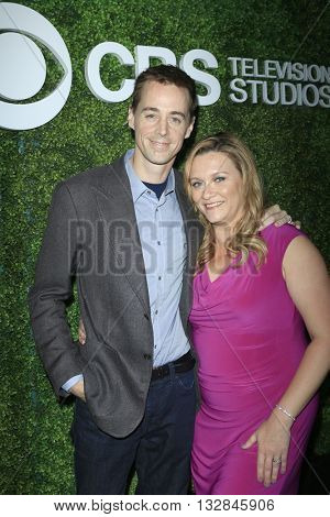 LOS ANGELES - JUN 2:  Sean Murray, Carrie James at the 4th Annual CBS Television Studios Summer Soiree at the Palihouse on June 2, 2016 in West Hollywood, CA