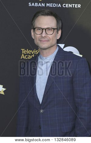 LOS ANGELES - JUN 2:  Christian Slater at the Television Academy 70th Anniversary Gala at the Saban Theater on June 2, 2016 in North Hollywood, CA