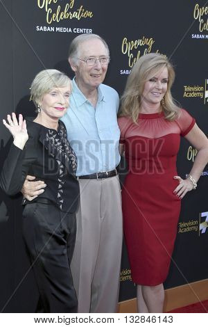 LOS ANGELES - JUN 2:  Florence Henderson, Bernie Kopell, Jill Whelan at the Television Academy 70th Anniversary Gala at the Saban Theater on June 2, 2016 in North Hollywood, CA