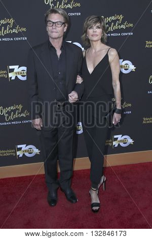LOS ANGELES - JUN 2:  Harry Hamlin, Lisa Rinna at the Television Academy 70th Anniversary Gala at the Saban Theater on June 2, 2016 in North Hollywood, CA