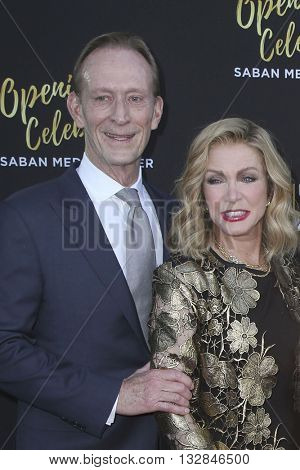 LOS ANGELES - JUN 2:  Ted Shackelford, Donna Mills at the Television Academy 70th Anniversary Gala at the Saban Theater on June 2, 2016 in North Hollywood, CA