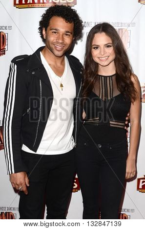 LOS ANGELES - MAY 31:  Corbin Bleu, Sasha Clements at the 42nd Street Play Opening at the Pantages Theater on May 31, 2016 in Los Angeles, CA