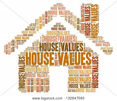 House Values Represents Selling Price And Charge