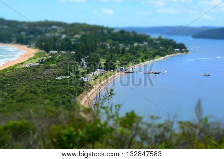 Palm Beach Ferry Wharf from Barrenjoey Lighthouse