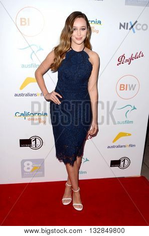 LOS ANGELES - JUN 1:  Alycia Debnam Carey at the 2016 Australians In Film Heath Ledger Scholarship Dinner at the Mr. C on June 1, 2016 in Beverly Hills, CA