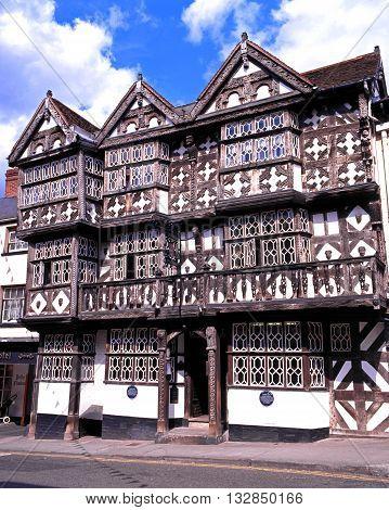 LUDLOW, UK - MAY 26, 1997 - The Feathers Hotel along Bull Ring Ludlow Shropshire England UK Western Europe, May 26, 1997.