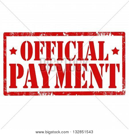 Grunge rubber stamp with text Official Payment,vector illustration
