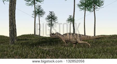 3d illustration of the alluring ceratosaurus
