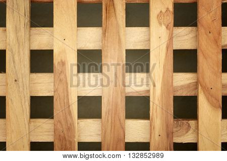 brown wooden cross or lattice wall background