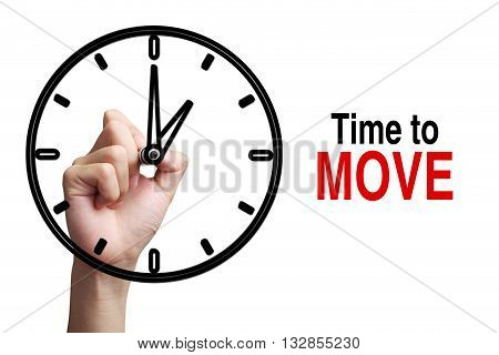 Time To Move Concept