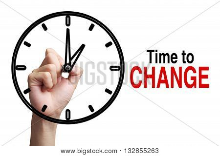 Time To Change Concept