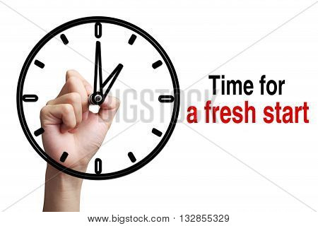 Time For A Fresh Start Concept