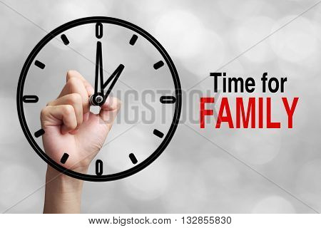 Time For Family Concept
