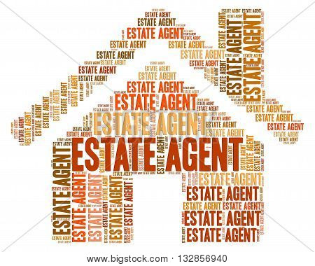 Estate Agent Means Realtors Houses And Residential