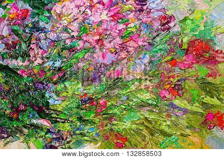 Texture Of Oil Painting, Art Painted Image Color, Paint,