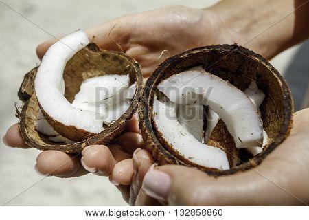 расколотый кокосовый оре