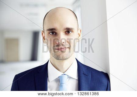 Portrait Of Calm Young Businessman