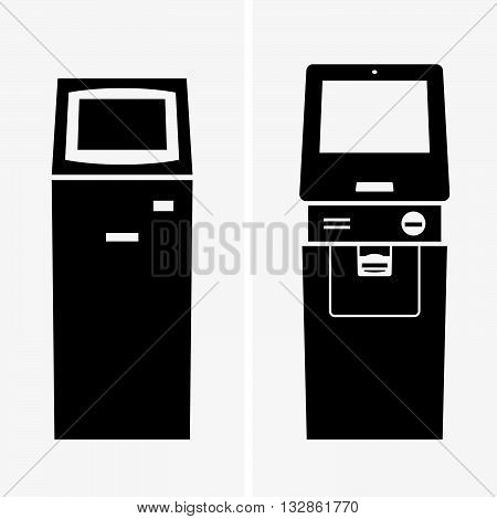 Set of two automatic teller machines, ATM