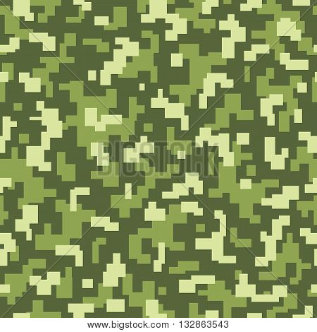 vector repeat camouflage texture with green colors for camouflage in the nature